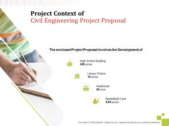 Project_Context_Of_Civil_Engineering_Project_Proposal_Development_Ppt_Gallery_Diagrams_PDF_Slide_1