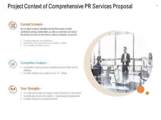 Project Context Of Comprehensive PR Services Proposal Ppt PowerPoint Presentation Professional Introduction