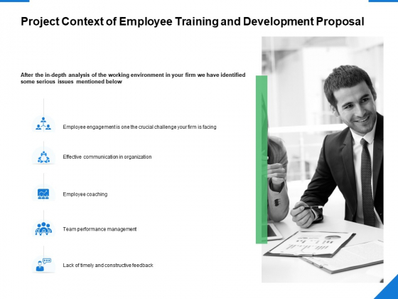 Project Context Of Employee Training And Development Proposal Ppt PowerPoint Presentation Ideas Graphics