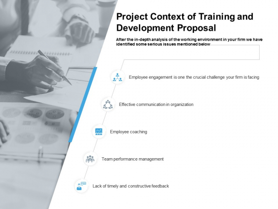 Project Context Of Training And Development Proposal Ppt PowerPoint Presentation Infographic Template Designs Download