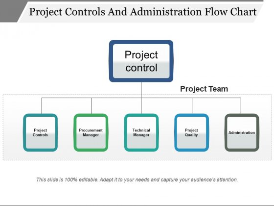 Project Controls And Administration Flow Chart Ppt PowerPoint Presentation Layouts Diagrams