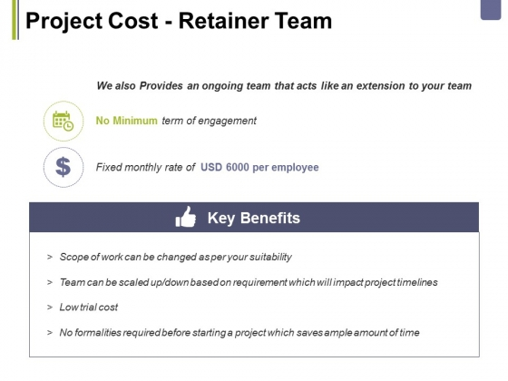 Project Cost Retainer Team Ppt PowerPoint Presentation Gallery Themes
