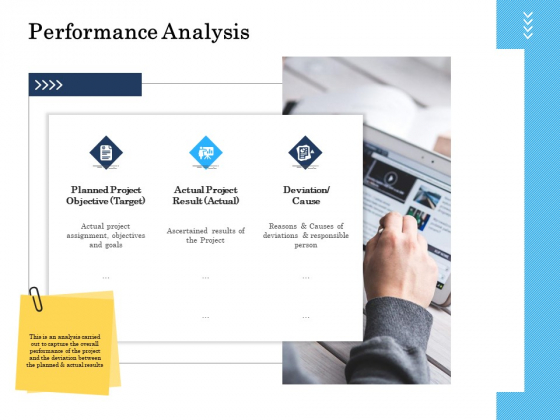 Project Deliverables Administration Outline Performance Analysis Ppt Infographics Demonstration PDF