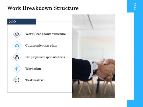 Project Deliverables Administration Outline Work Breakdown Structure Ppt Slides Examples PDF