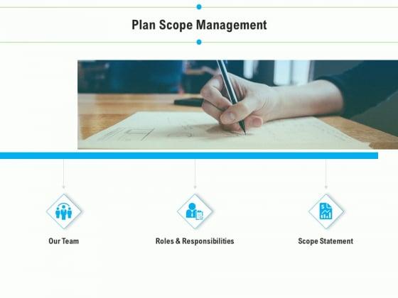 Project Deliverables Outline Plan Scope Management Ppt Layouts Information PDF