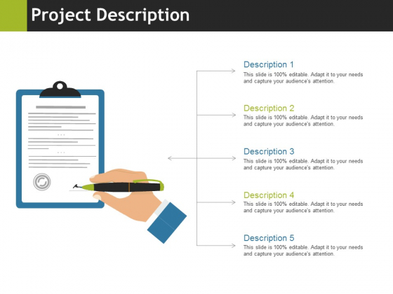 Project Description Ppt PowerPoint Presentation Gallery Brochure
