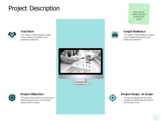Project Description Ppt PowerPoint Presentation Gallery Graphics Tutorials