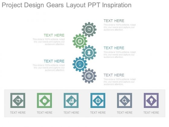 Project Design Gears Layout Ppt Inspiration