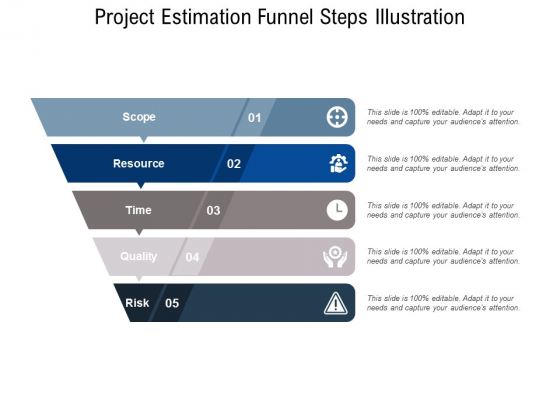 Project Estimation Funnel Steps Illustration Ppt PowerPoint Presentation Infographic Template Professional