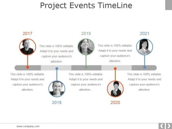 Project Events Timeline Ppt PowerPoint Presentation Icon Demonstration