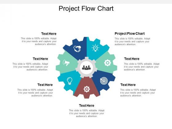 Project Flow Chart Ppt PowerPoint Presentation Show Backgrounds Cpb