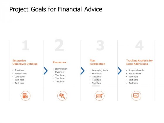 Project Goals For Financial Advice Ppt Powerpoint Presentation Professional Show