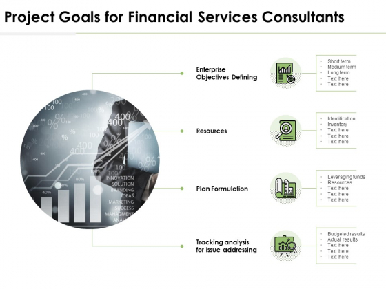Project Goals For Financial Services Consultants Ppt PowerPoint Presentation Model Master Slide