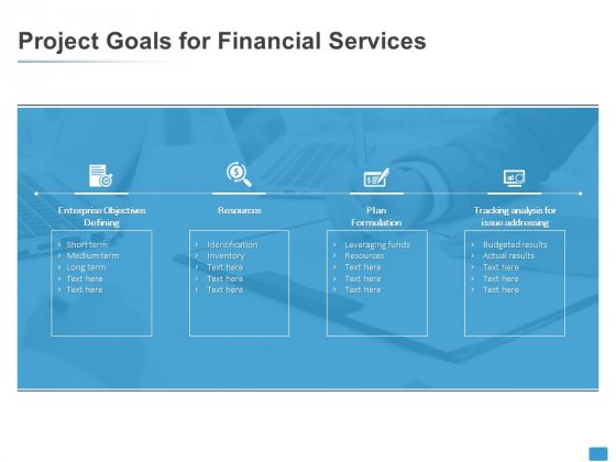Project Goals For Financial Services Resources Ppt PowerPoint Presentation Styles Diagrams