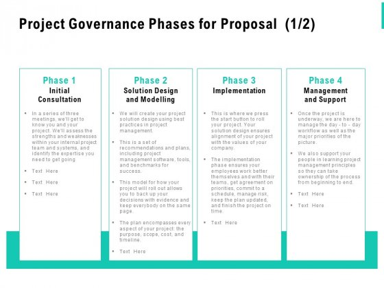 Project Governance Phases For Proposal Support Ppt PowerPoint Presentation Outline Layout Ideas