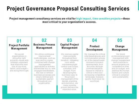 Project Governance Proposal Consulting Services Ppt PowerPoint Presentation File Graphics Tutorials