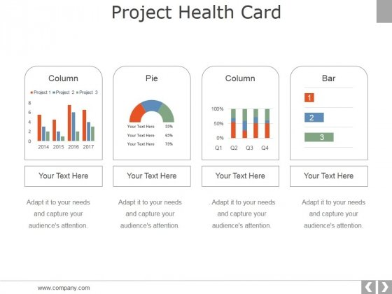Project Health Card Template 1 Ppt PowerPoint Presentation Professional Example