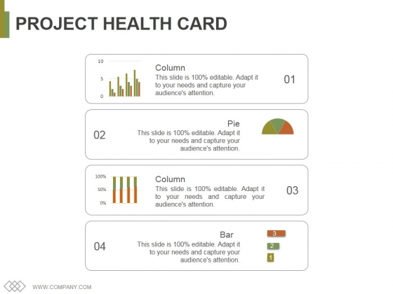 Project Health Card Template 1 Ppt PowerPoint Presentation Summary Visual Aids
