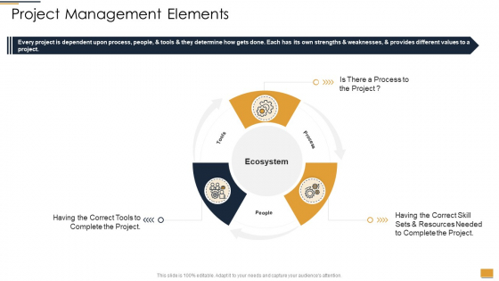 Project Ideation And Administration Project Management Elements Ppt Diagram Lists PDF