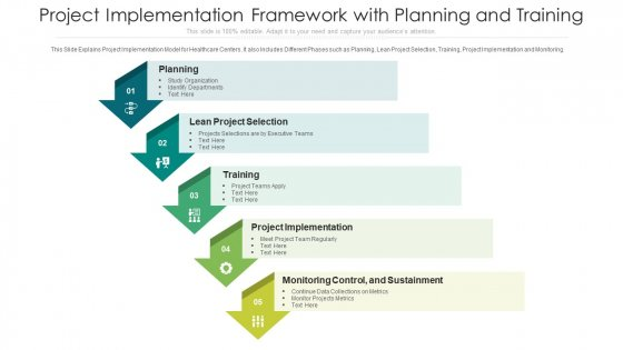 Project Implementation Framework With Planning And Training Ppt Outline Infographics PDF