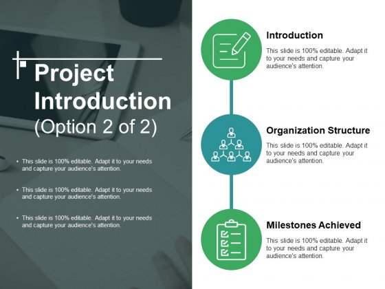 Project Introduction Template 2 Ppt PowerPoint Presentation Icon Example