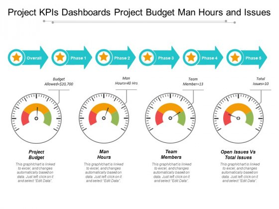 Project Kpis Dashboards Project Budget Man Hours And Issues Ppt PowerPoint Presentation Professional Design Inspiration