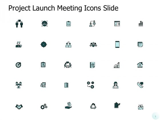 Project Launch Meeting Icons Slide Mobile Ppt PowerPoint Presentation Inspiration Grid