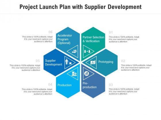 Project Launch Plan With Supplier Development Ppt PowerPoint Presentation Pictures File Formats PDF