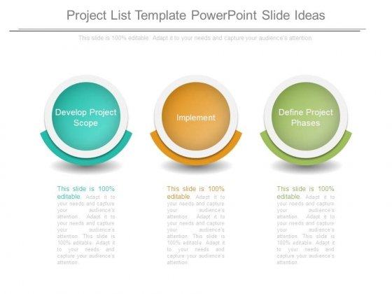Project List Template Powerpoint Slide Ideas  Powerpoint Templates
