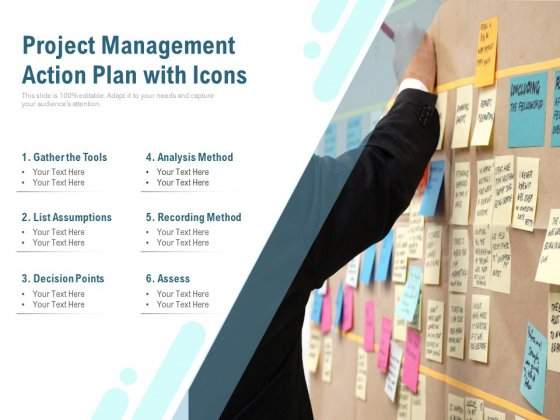 Project Management Action Plan With Icons Ppt PowerPoint Presentation Icon