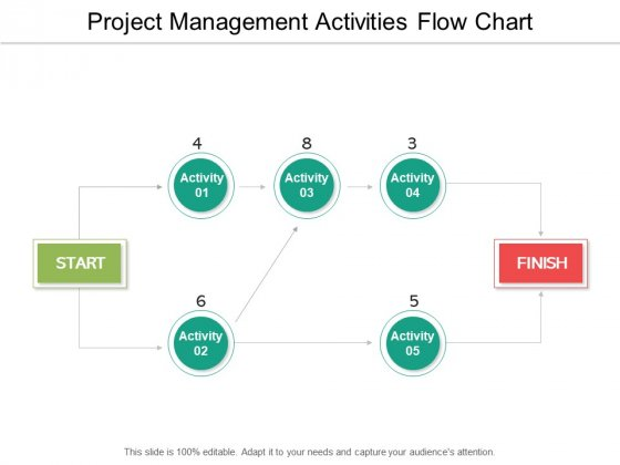 Project Management Activities Flow Chart Ppt PowerPoint Presentation File Example File