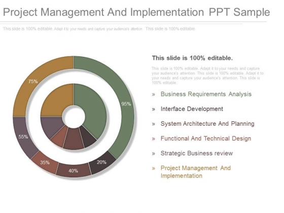 Project Management And Implementation Ppt Sample