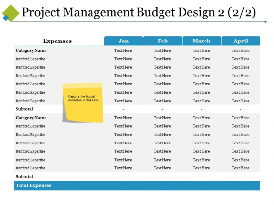 Project Management Budget Design Template 3 Ppt PowerPoint Presentation Layouts Tips