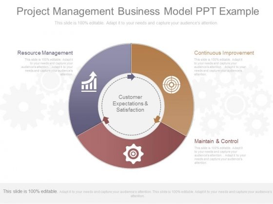 Project Management Business Model Ppt Example
