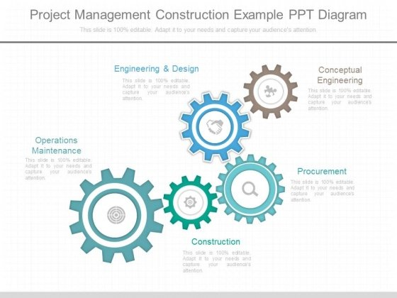 Project Management Construction Example Ppt Diagram