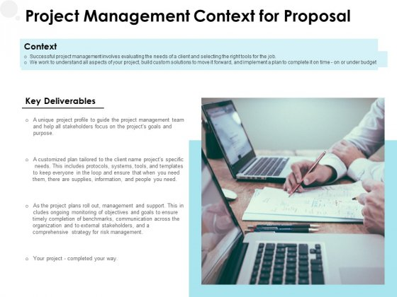 Project_Management_Context_For_Proposal_Ppt_PowerPoint_Presentation_Layouts_Influencers_Slide_1