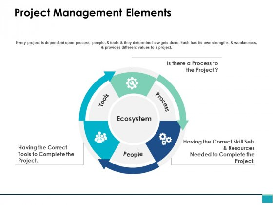 Project Management Elements Ppt PowerPoint Presentation Inspiration Designs