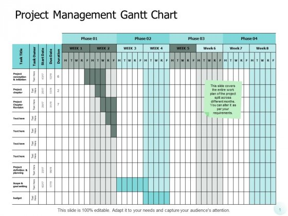 Project Management Gantt Chart Ppt PowerPoint Presentation Gallery Professional