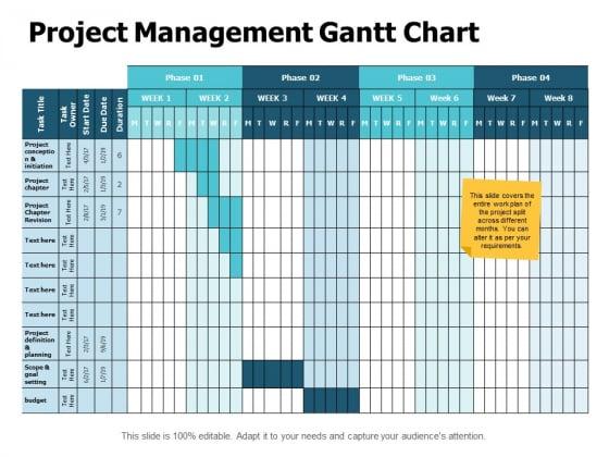 Project Management Gantt Chart Ppt PowerPoint Presentation Layouts Format Ideas