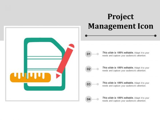 Project Management Icon Ppt PowerPoint Presentation Slides Graphics Tutorials