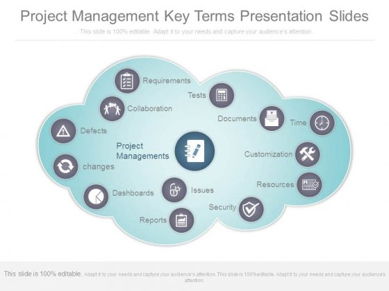Project Management Key Terms Presentation Slides