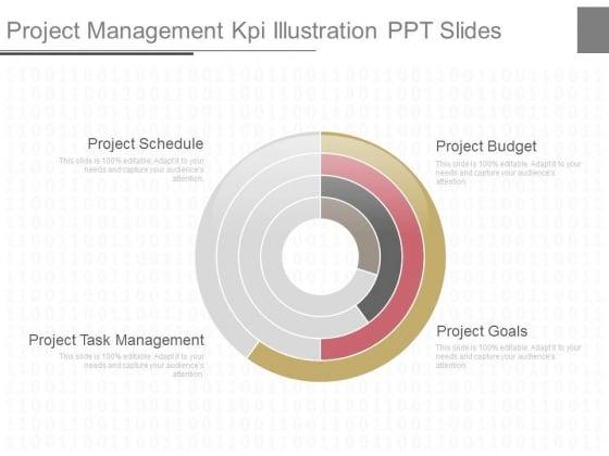 Project Management Kpi Illustration Ppt Slides