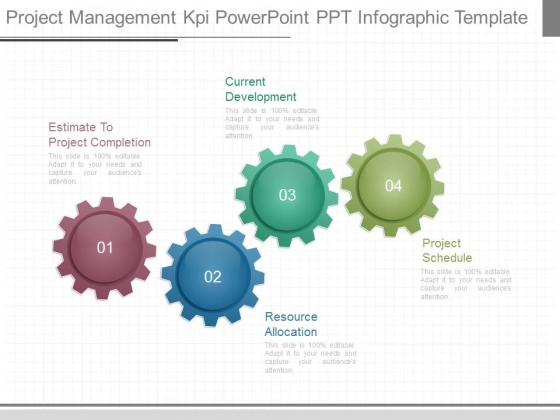 Project Management Kpi Powerpoint Ppt Infographic Template ...
