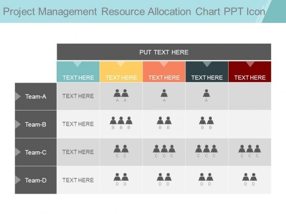 Project Management Resource Allocation Chart Ppt Icon