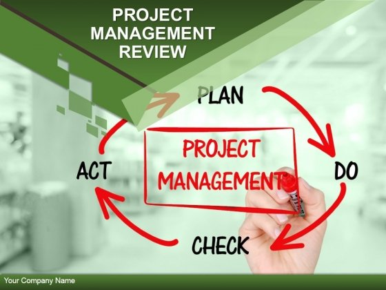 Project Management Review Ppt PowerPoint Presentation Complete Deck With Slides