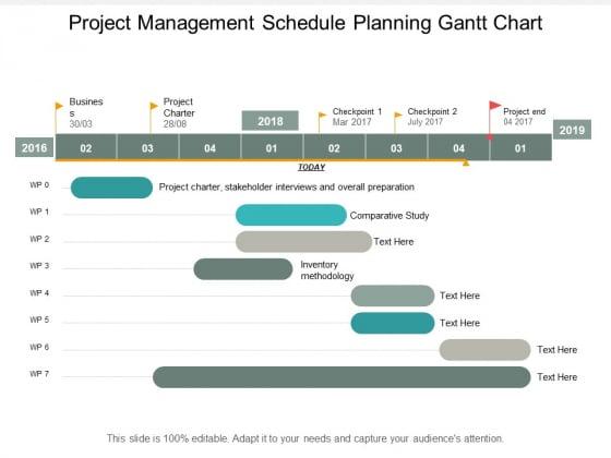 Project Management Schedule Planning Gantt Chart Ppt PowerPoint Presentation Outline Graphics Design