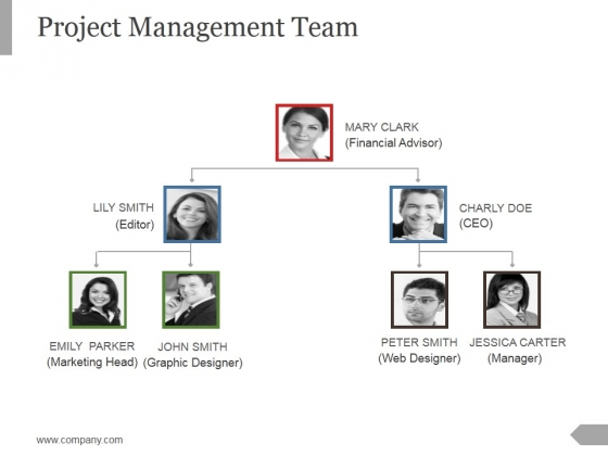 Project Management Team Template 2 Ppt PowerPoint Presentation Samples