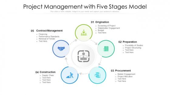 Project_Management_With_Five_Stages_Model_Ppt_Portfolio_Visual_Aids_PDF_Slide_1