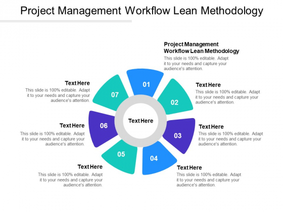 Project Management Workflow Lean Methodology Ppt PowerPoint Presentation Icon Gallery Cpb Pdf