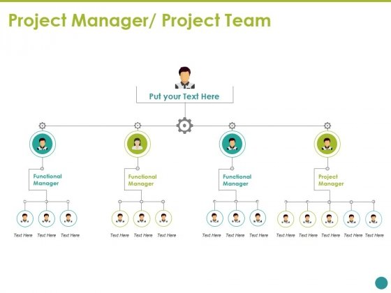 Project Manager Project Team Template Ppt PowerPoint Presentation Icon Deck